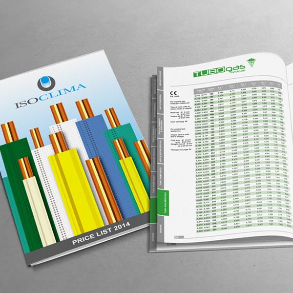 Graphic design - listino ISOCLIMA