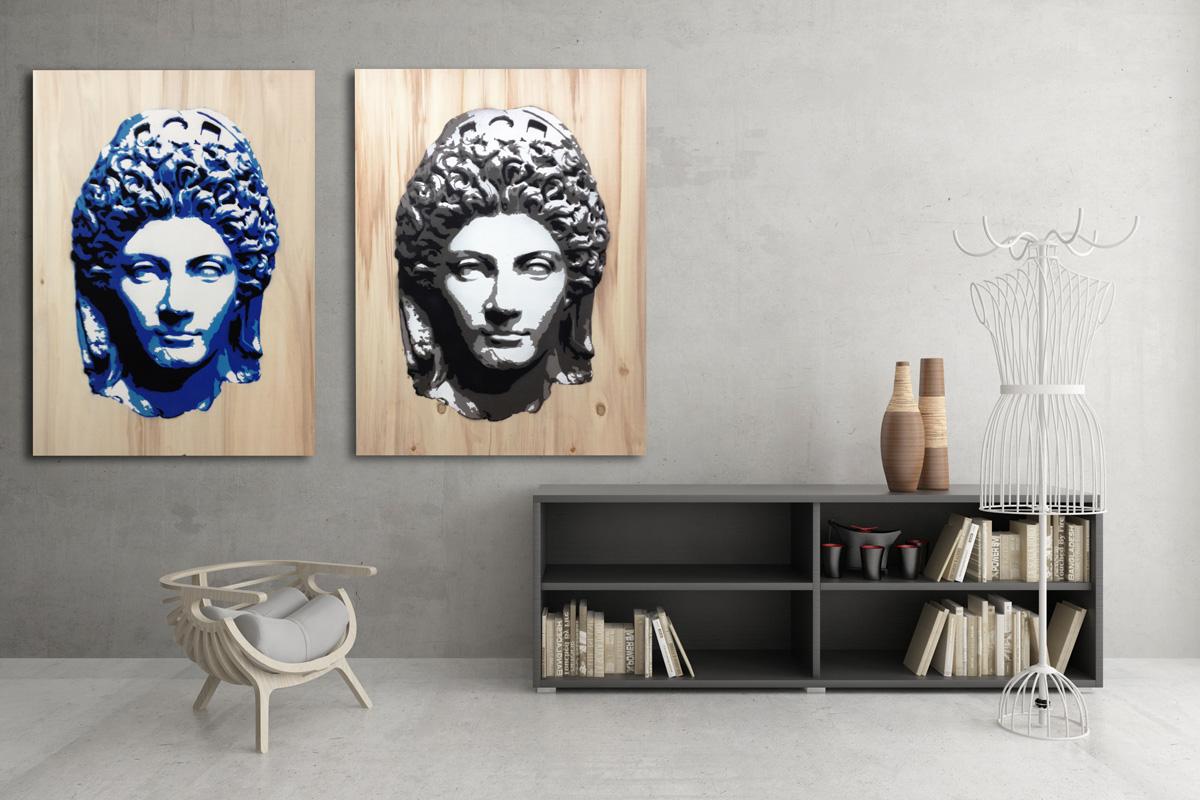 Iulia pannelli d 39 arredo d 39 autore design by studio7b for Quadri d arredo