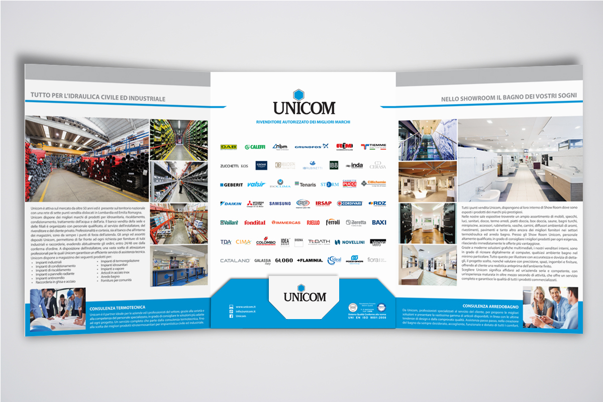 graphic design per la comunicazione di unicom s.p.a. - Unicom Arredo Bagno Brescia
