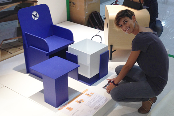 Giulia Kron Morelli a Homi con Baby Tron